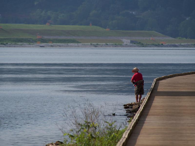 A fisherman at 600 mm equivalent