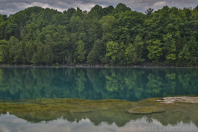 Green Lakes, NY No. 1 (bioherms underwater in foreground)