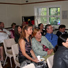 Faces in the crowd during William Pitt's presentation on the Hutt River Principality.
