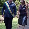Consul Jason McKerra of Lavalon strolling with Princess Paula Jensen of Snake Hill.