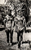 Two men from the Outer Islands of Yap, dressed for a dance (photograph from the period of Japan's South Seas Mandate)
