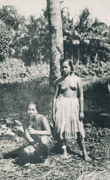 Two young Pohnpeian women during the period of Japan's South Seas Mandate