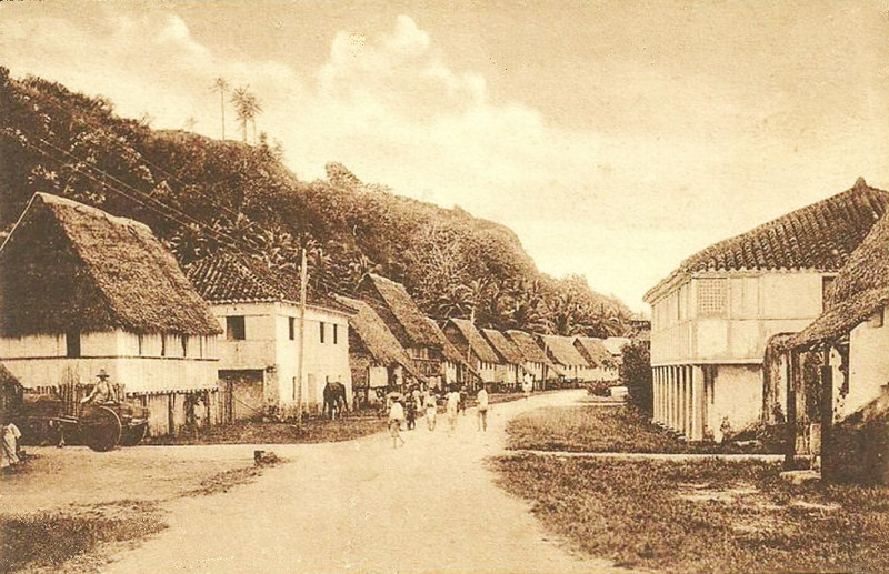 Old photograph of another street in Agana, Guam, circa 1910