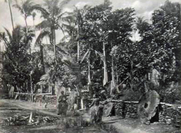 "From about 1910, shows a ""street scene"" in what appears to be a very well laid-out village"