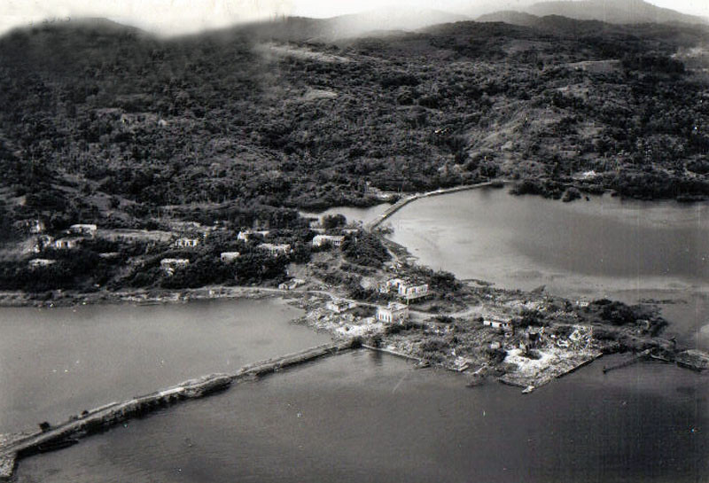 A closer view of the destruction to Colonia, resulting from the U.S. bombing of Japanese installations on Yap  (U.S. Navy photograph from August 28, 1945)