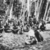 Yap:  A village group of men, women, and children (Kurt Boeck, 1899)