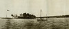 """From """"The Illustrated London News"""" of 30 July 1921: """"A junction of three Pacific cables: The island of Yap, in the Carolines--showing Engoth Islet, in Tomil Harbour, and the cable-ship 'Stephao' in the background."""""""