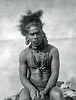 Chuuk, 1899:  Henry Fassett's more formal photograph of the same Chuukese man in warrior attire
