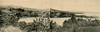 A composite of the first two of the three preceding photos: Colonia's Chamorro Bay from the south, about 1930
