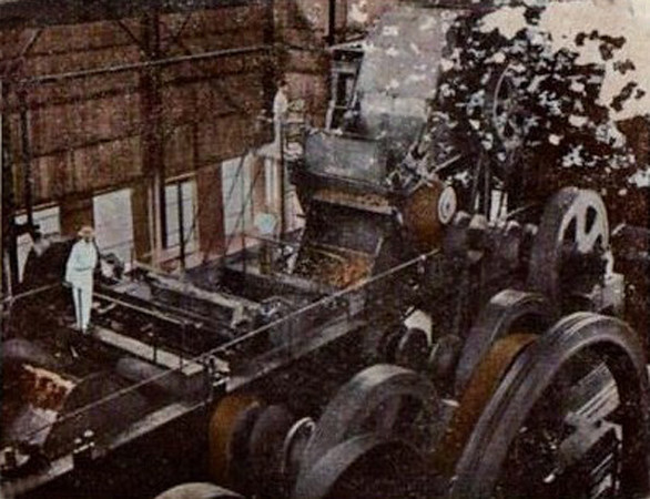 Sugar refining machinery on Tinian, during Japan's South Seas Mandate, circa 1935