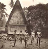 Men in front of a house on Koror, Palau (Kurt Boeck, 1900)