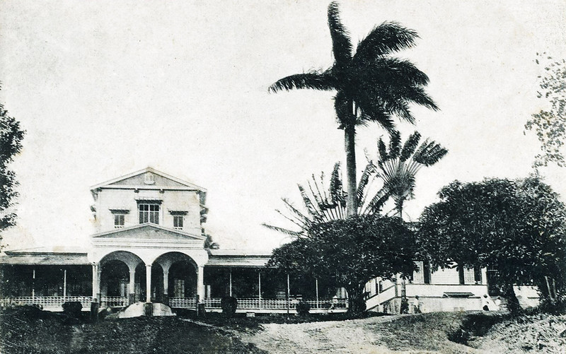 """Government House"" on Pohnpei during the period of Japan's South Seas Mandate"