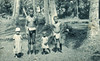 From the period of Japan's South Seas Mandate, a photograph of a Palauan father and his children