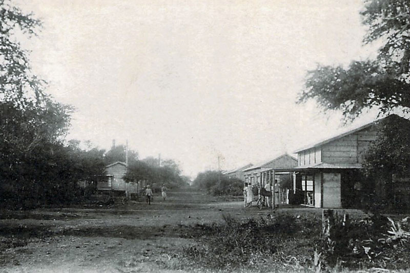 On Tinian, houses for employees of Japan's strategic development company, Nanyo Kohatsu, K.K., about 1930