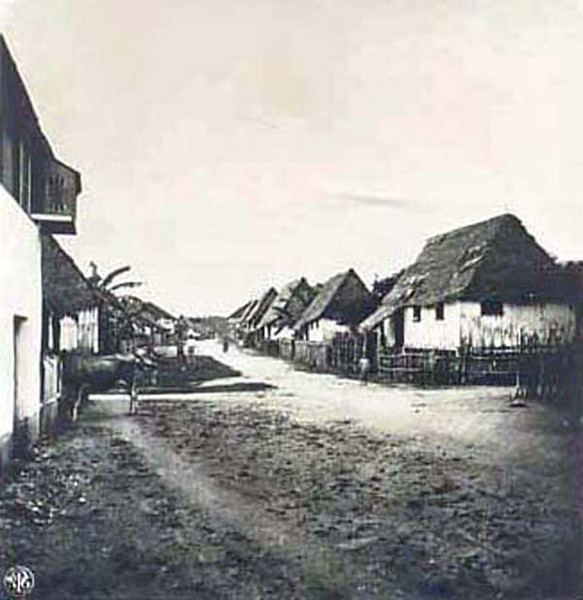 A street in Agana, Guam (Kurt Boeck, 1900)
