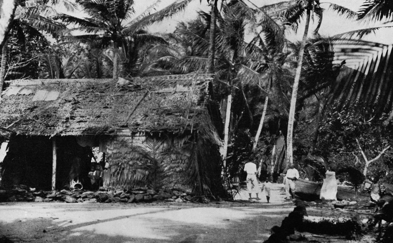 A house on Chuuk, 1921 (Junius B. Wood)