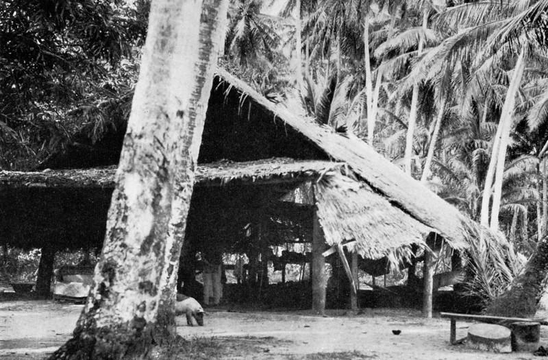 A Chuukese men's house, 1921 (Junius B. Wood)