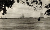 From the period of Japan's South Seas Mandate, this photograph shows ships at anchor off Jaluit