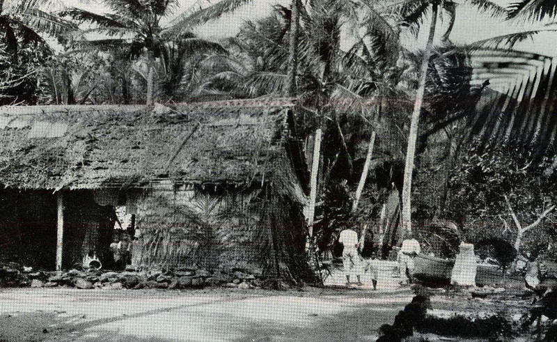 From the National Geographic Magazine, 1921, photograph of a  village on Pohnpei