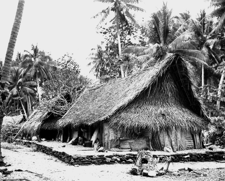 U.S. Navy photo of houses on Fassarai (Fadarai), Ulithi, taken in November 1944.