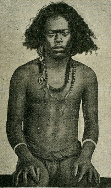 "This image is from the ""Scientific American Supplement"" of 26 August 1899, with the caption:  ""Male Aborgine of Ruk Islands."""