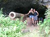 We hiked up an overgrown trail to this cave that housed a HUGE cannon. Imagine the loud resonating BANG that it produced!