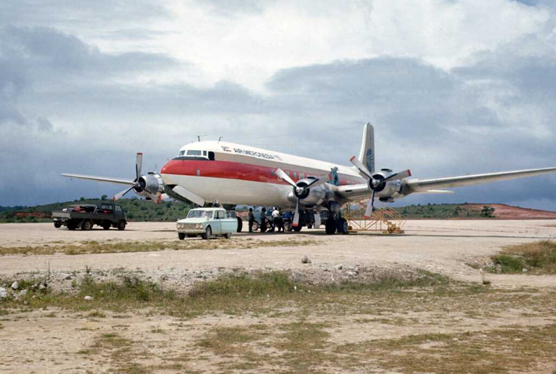 The DC-6 on Palau and ready for its close-up (Frank Glass)