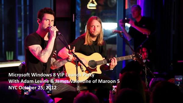 20121025 Windows 8 Party Maroon 5 Adam Levine