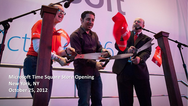 20121025 Microsoft New York Time Square Store Opening