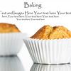 Freshly home baked banana muffin