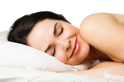 Portrait of beautiful  sleeping woman