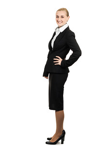 Portrait of beautiful air hostess.