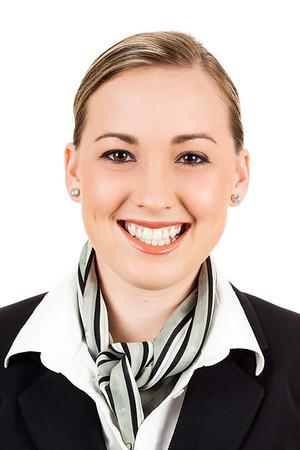 Friendly happy air hostess