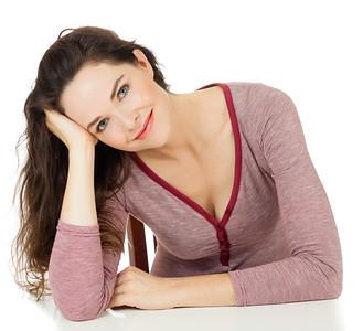 Portrait of beautiful woman sitting
