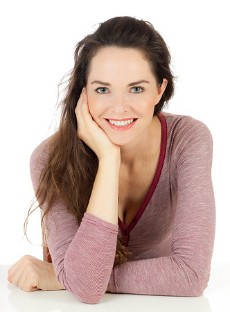 Happy beautiful young woman