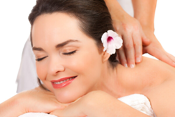 Beautiful woman enjoying a massage