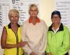 We caught three B Flight winners, Peg Seifner (First), Sharon MCCoy (tie Second) and Judy Moning (tie second)