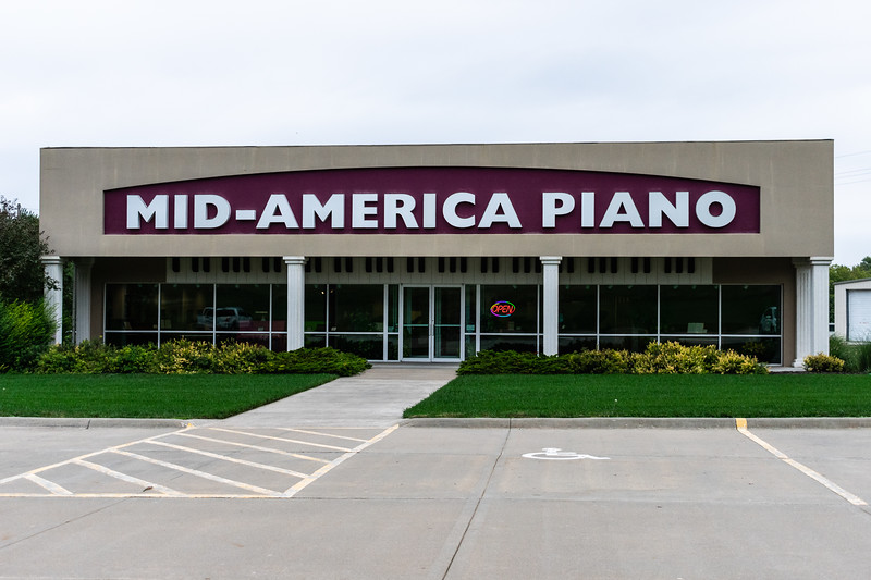 Mid-America Piano was opened in August of 1986 by Dan and Diane Murphy. The owners are proud to share that their central location has allowed them to place pianos all over the United State as well as in Canada, Mexico, and even Africa! (Brooke Barrett | Collegian Media Group)