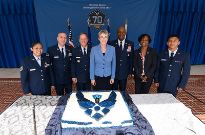 Air Force 70th Birthday Cake Cutting Ceremony