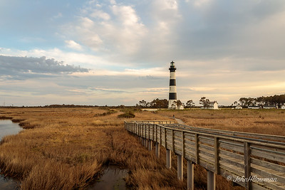 Bodie Island Lighthouse - evening (The Hordes Arrive)