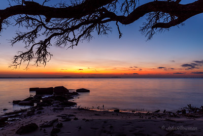 Sunset over Croatan Sound