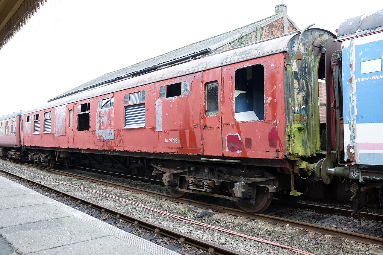 BR 25231 Mk 1 Corridor Second 07,12,2014 (From Long Marston Airfield) Now Scrapped)