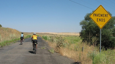 A short section of gravel is a small price for riding the quiet old road