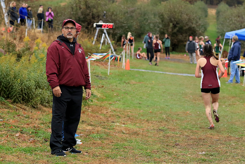 . Mid-Wach A boys and girls cross country championships where held at Hollis Hills Farm in Fitchburg on Thursday afternoon. SENTINEL & ENTERPRISE/JOHN LOVE