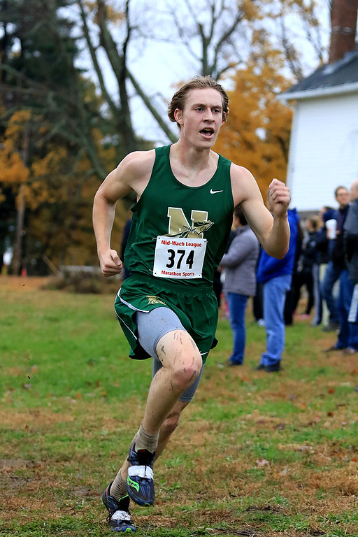 . Mid-Wach B boys cross country championships where held at Hollis Hills Farm in Fitchburg on Thursday afternoon. SENTINEL & ENTERPRISE/JOHN LOVE
