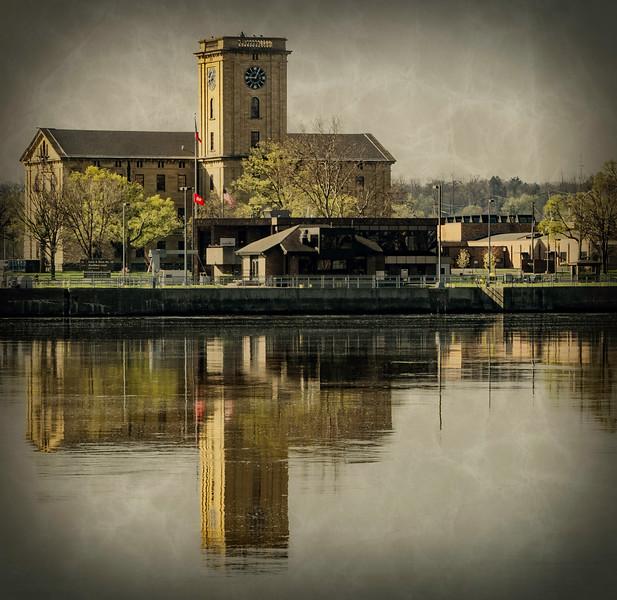 Davenport IA - Reflection of Hall -