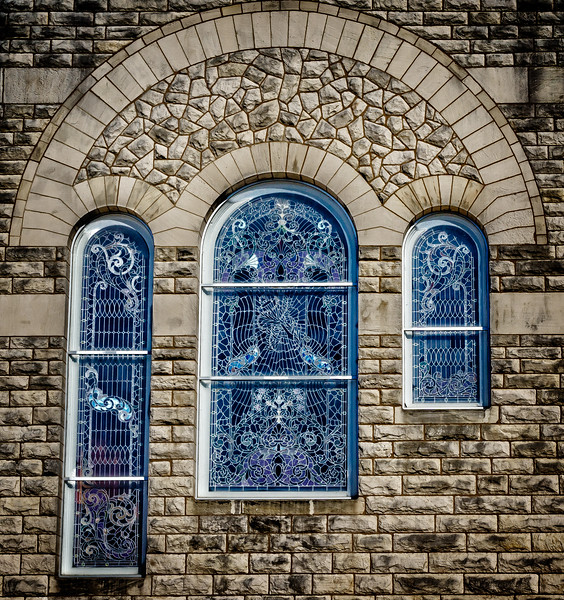 Galesburg IL - Blue Glass-00950