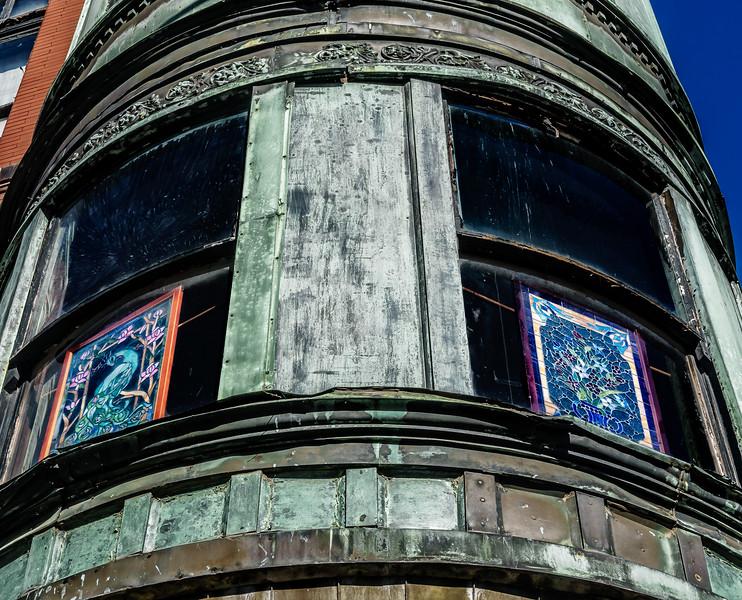 Galesburg IL - Antique Mall Copper Windows-2