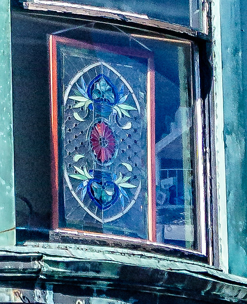Galesburg IL - Antique Mall Stained Glass Window-2