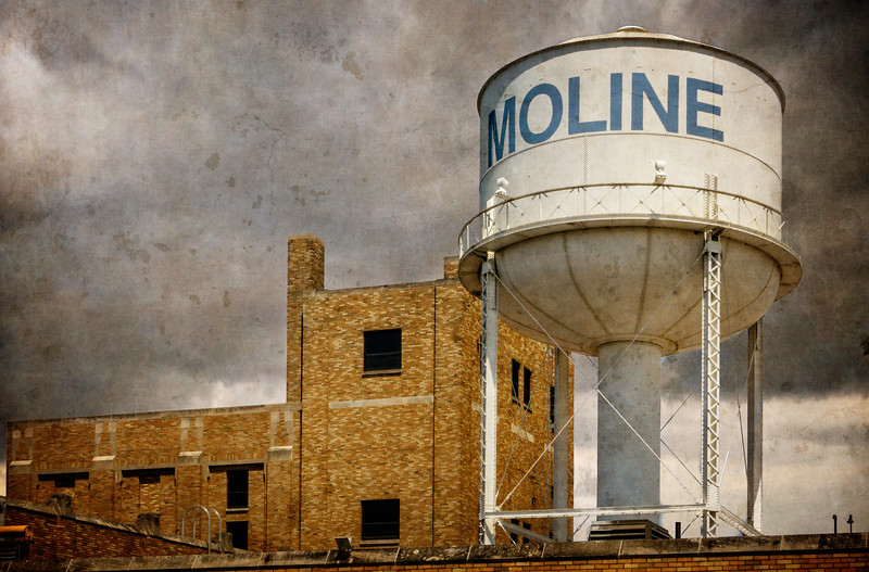 Moline IL - Water Tower-03493